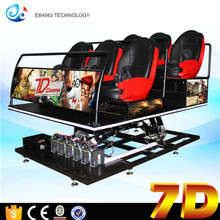 Synchronized dynamic more seats 7D Movie Theater With Gun Shooting