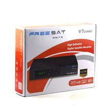 Freesat Digital Satellite Receiver V7 Combo DVB-S2+T2 Support Powervu.DRE & Biss key Freesat V7 HD Combo