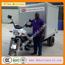 2014 New Fashion 200cc Cargo Tricycle with Closed Cooling Box/three wheel refrigerator motorcycle