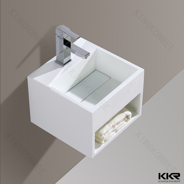 Customized design solid surface Double solid surface Sinks/very small bathroom face basin