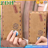 4s/5s/6s Plus Retro Envelope Mail Wallet Bag Sleeve For Apple iPhone4S 5S 6S Plus 4.7&5.5 Leather Handwork Phone Case Capa Pouch