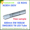 Ecology friendly warm white AC85-265V SMD2835 CE ROHS 90cm t8 led tube aquarium lights