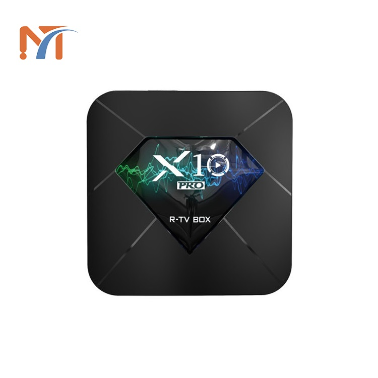 Attractive design Quad Core 4G+32G/64G Preinstalled KD for Free Movie <strong>X10</strong> PRO Amlogic S905X2 Smart Android TV Box