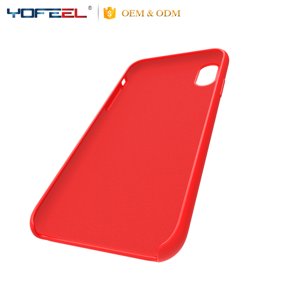 Luxury Original Silicone Cover Ultra-Thin Phone Case for iphone x
