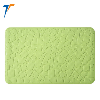 waterproof non slip silicone bath mat with suction cup