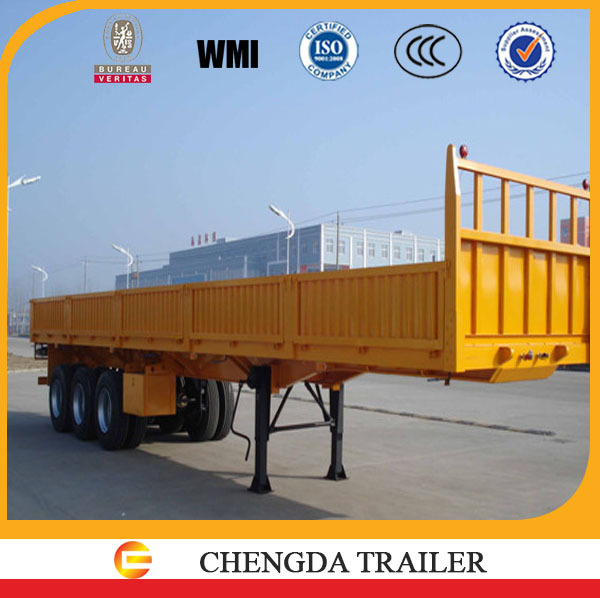 Tri-axle side wall trailer with WABCO Brand emergency relay valve