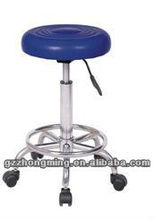 Modern Blue Pu Leather Bar Chair/Bar Stools With Wheels ZM-30