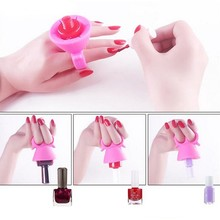 nail art printer Silicone Spill Proof Non Slip Nail Polish Bottle Stand