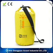 various sizes waterproof dry bag with strap for boating and swimming