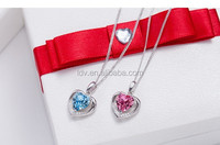 925 silver box chain forever heart necklace high quality