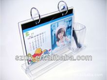 acrylic desktop calendar holder wholesale with pen stand