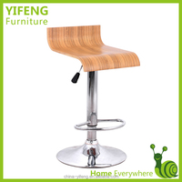 Bent wood modern outdoor used swivel bar stool (factory manufacturer)