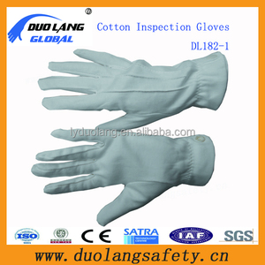 White cotton inspection gloves military parade gloves for sale