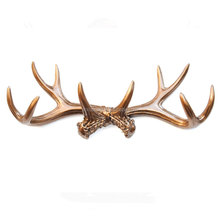 Faux Deer Antlers Wall Decor, Bronze