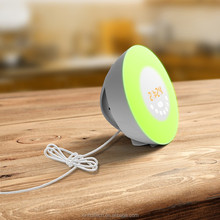 wake up light alarm clock simulation sunrise lighting with radio