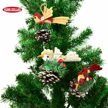 Wholesale Chrismas colorful tree ornaments bird decoration for xmas decor