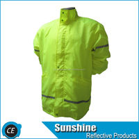 fluorescent transparent raincoat reflect safety