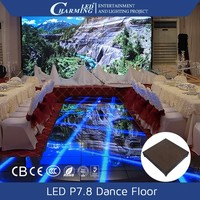 export quality night club disco led video dancing floor for concert stage/wedding party