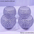 2018 silver wedding crystal ball candle holder for party & event decoration wedding candelabra (CAN-024)