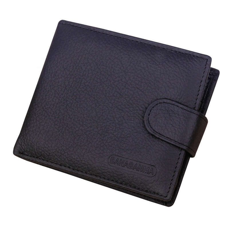 Amazon Hot Sale Genuine Leather Slim <strong>Wallet</strong> Thin Men Short <strong>Wallet</strong>