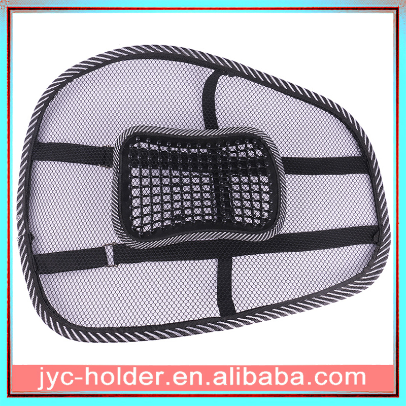 Black Car Lumbar Pillow Massage Soft Seat Waist Rest Cushion Chair Mesh Back Lumbar Support