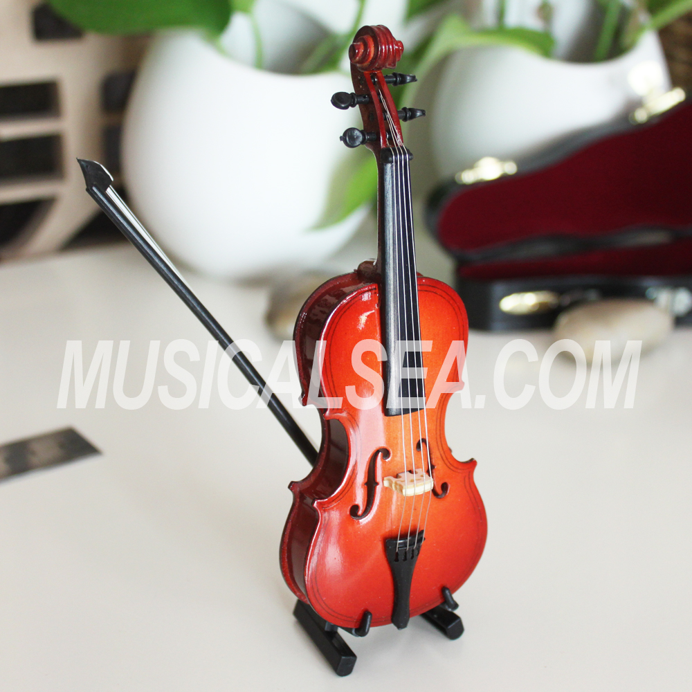 High Quality Miniature handmade violin made in china musical instrument craft for Kids