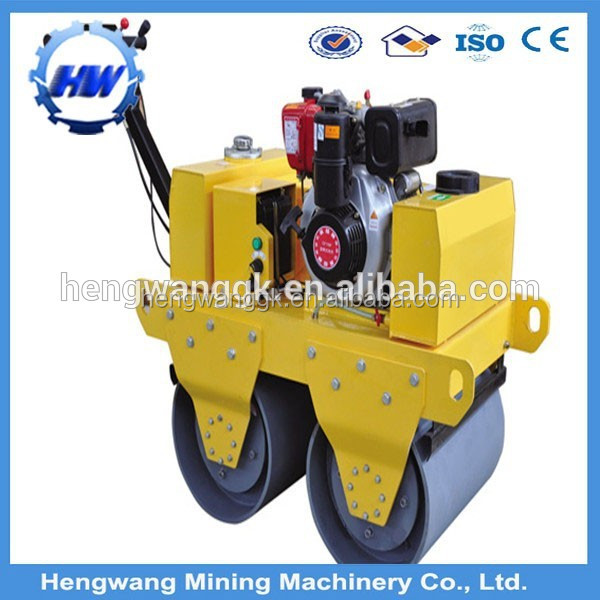 HW-600 walk behind double drum vibratory road roller