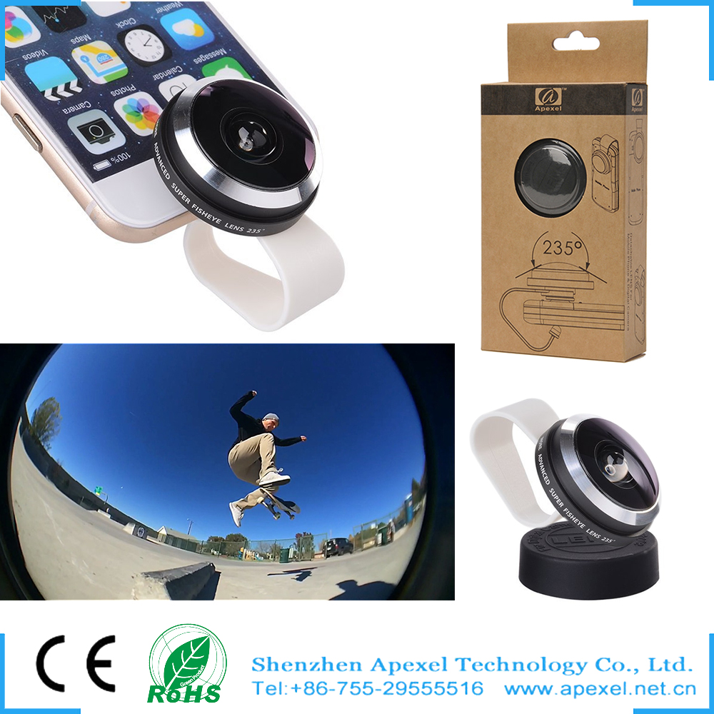 235 Degree Super Fish eye Lens for Projector,For iPhone Clip Fisheye Lens