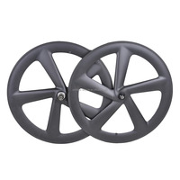Baolijia Chinese carbon fiber bicycle parts 700C 5 spoke carbon wheel with good hub