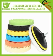 Circular pressure wax high density sponge suit superfine fiber car waxing sponges