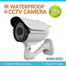 IR Waterproof 3.6/6mm fixed lens CCTV cmos bullet camera (1200TVL,1000TVL,800TVL,700TVL), support UTC Function