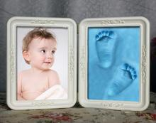 Kid Photo Footprint Handprint Imprint With Soft Clay Decoration Novelty GiftBest baby handprint crafts and wooden picture frame