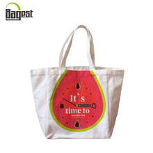 White Color Promotional Cotton Shopping Bag with Logo Printing