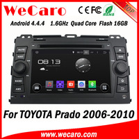 Wecaro Android 4.4.4 car dvd player 1024 * 600 navigation system for toyota prado 16GB Flash 2006 - 2011