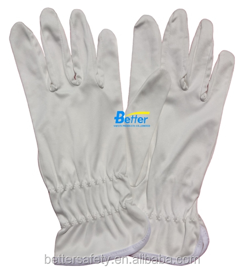 100% Stretch Polyester Parade Pattern cotton Protective Gloves