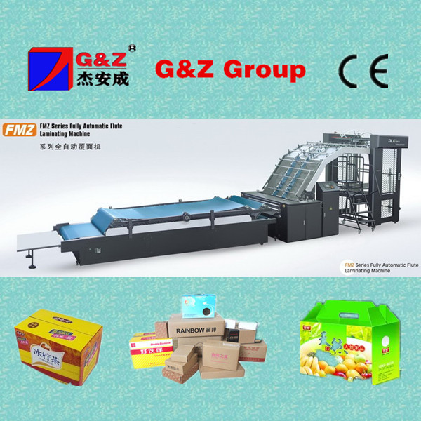 litho cardboard with corrugated board laminating machine