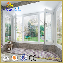 2017 model white aluminum alloy casement window double tempered glass