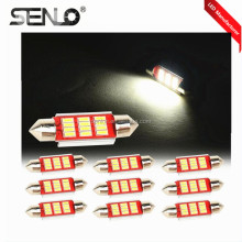 Hot sale led interior light car auto c3w c5w c10w CANBUS 31mm 36mm 39mm 42mm 12smd 4014 white led festoon reading light 12v