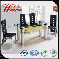 latest China second hand dining table and chairs
