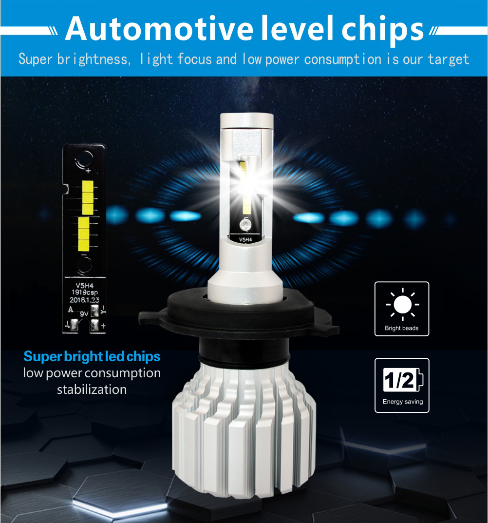 auto lighting led headlight h11 high lumen 9000lm led headlight bulb replacement 12v led headlight h7