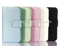 Book Style TPU cover & Leather Case Cover for iPhone 5c mini Lite