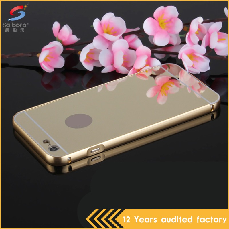 Customized gild design aluminum bumper case for iphone 5