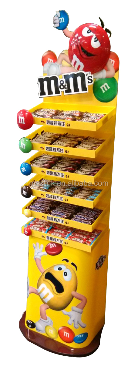 Hot sale props snack/candy display rack used in super market for prompotion and advertising ,fashion design promotion rack