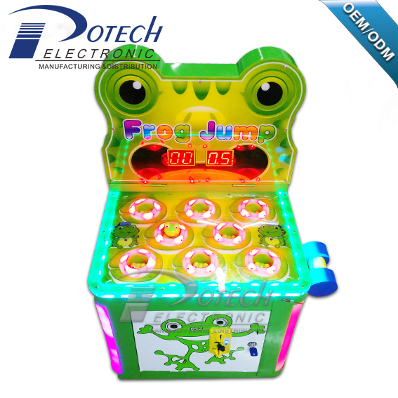 coin operated Frog hitting kids arcade machines /arcade games machine for sale