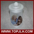 China supplier sublimation photo printed glass can Frosted Glass Seal Pot