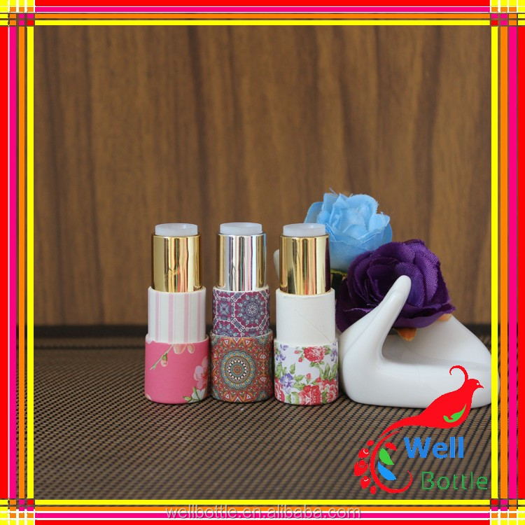 New design packaging supplied customized service lip balm tube cute paper lipstick container