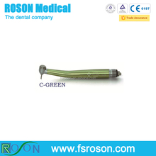 Popular Standard Head Push Button Single Spray Dental Highspeed Handpiece Green Color