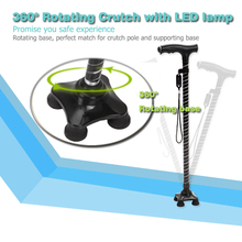 360 degree Rotating Crutch with LED lamp for elders and disabled