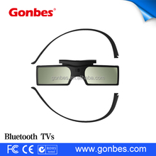 cheap detachable Button Battery active shutter 3d glasses plastic polarized 3d glasses