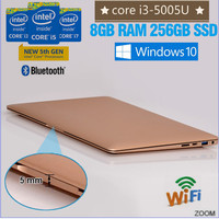 Popular ultra thin computers for sale Intel core i3-5005U 256GB hot sale core i3 laptop with RAM and Hard Disc WiFi USB